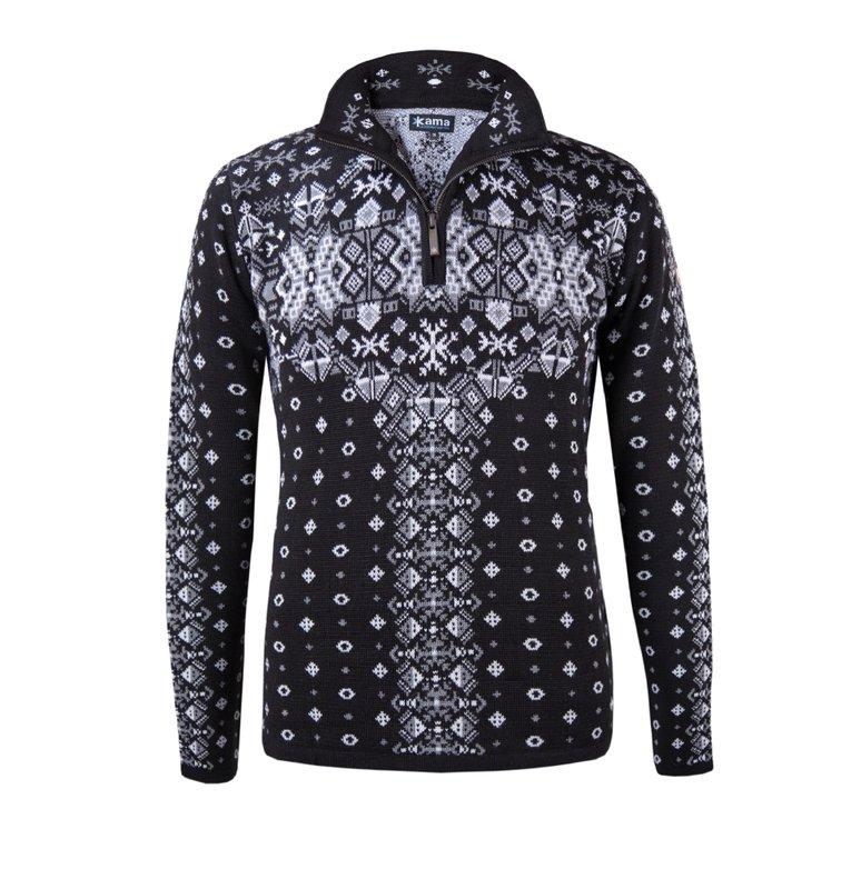 Stijlvolle trui van Kama dames zwart 5434