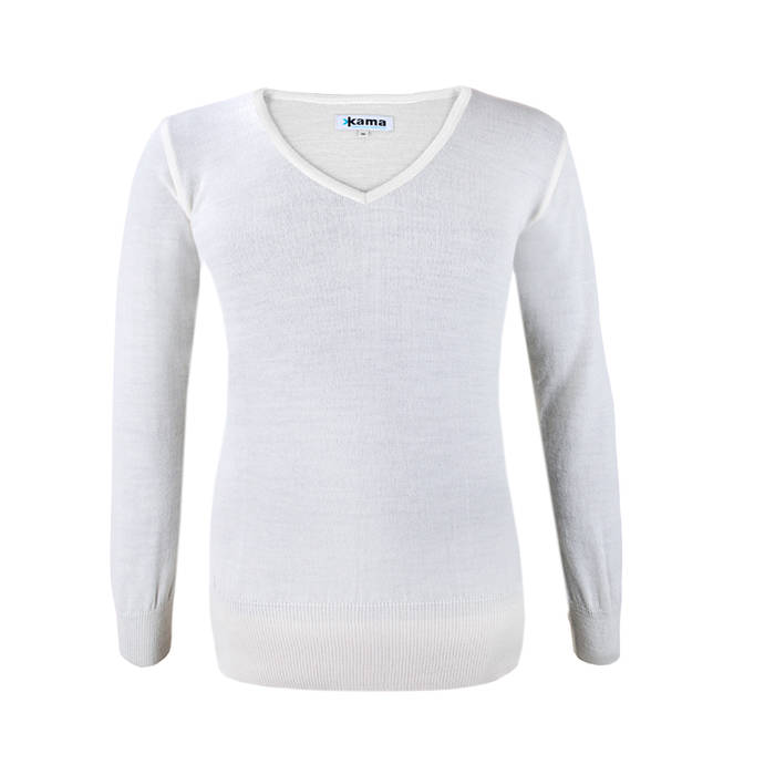 Merino Trui Dames.Kama Urban Sweater Dames Van 100 Merino Wol Wit 5101 Antrekk