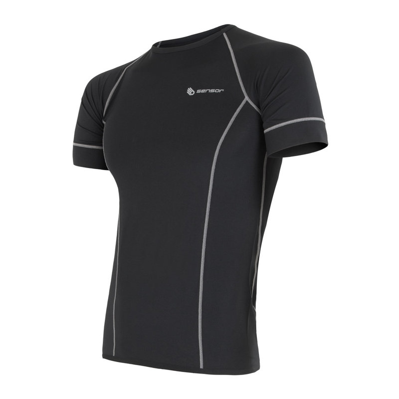 Sensor Coolmax lichtgewicht Tshirt korte mouw heren zwart