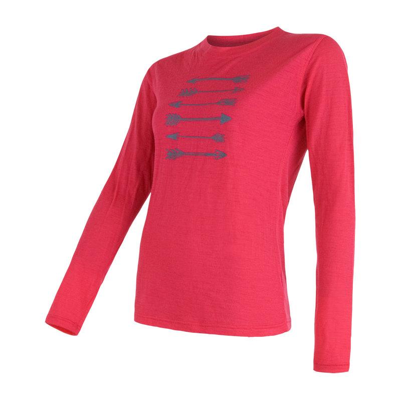 Sensor 100% merino wol t-shirt magenta