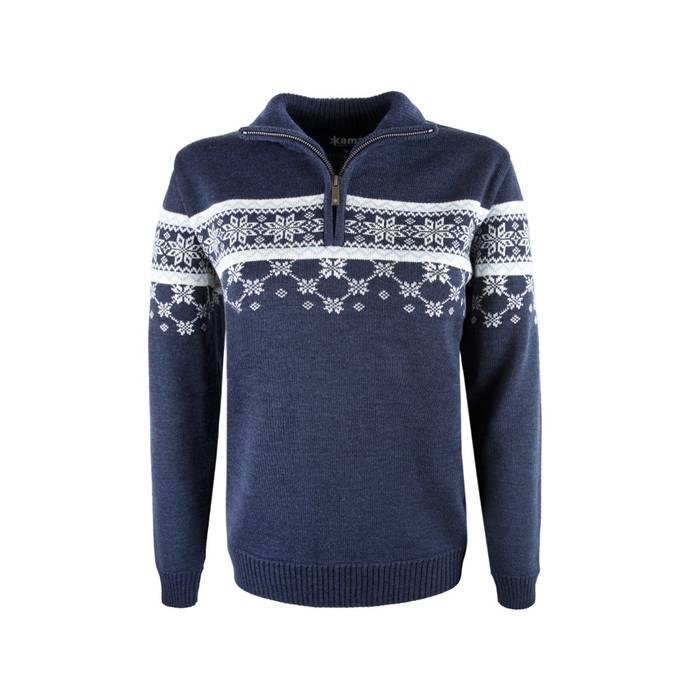 Trui Merinowol Dames.Kama Sweater Van 100 Merino Wol Blauw Dames 5007 Antrekk