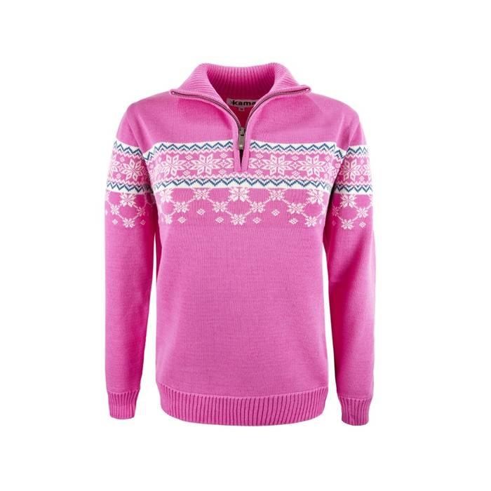 Merino Wol Trui Dames.Kama Sweater Van 100 Merino Wol Roze Dames 5007 Antrekk