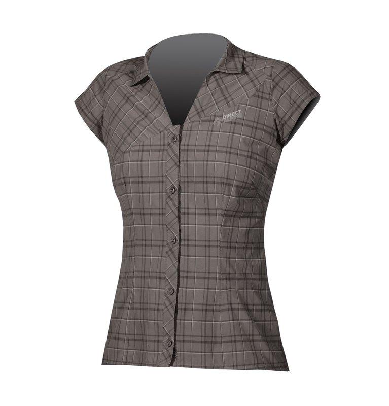 Direct Alpine Sandy shirt korte mouw grijs-zwart dames
