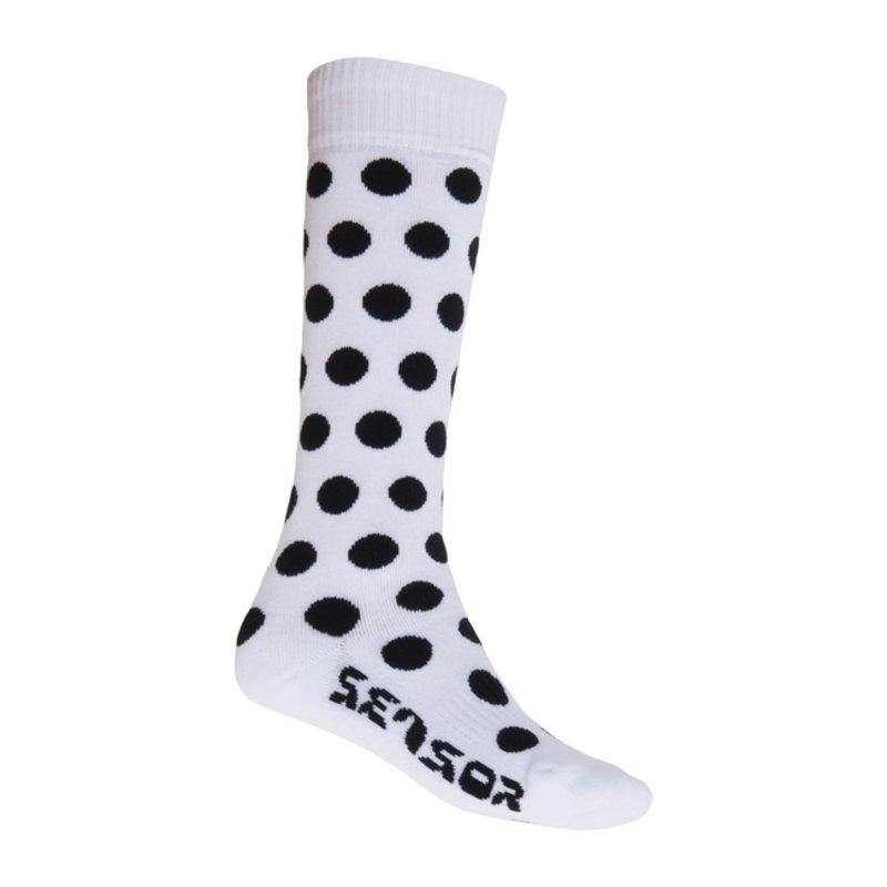 Sensor Thermosnow sokken dots wit-zwart