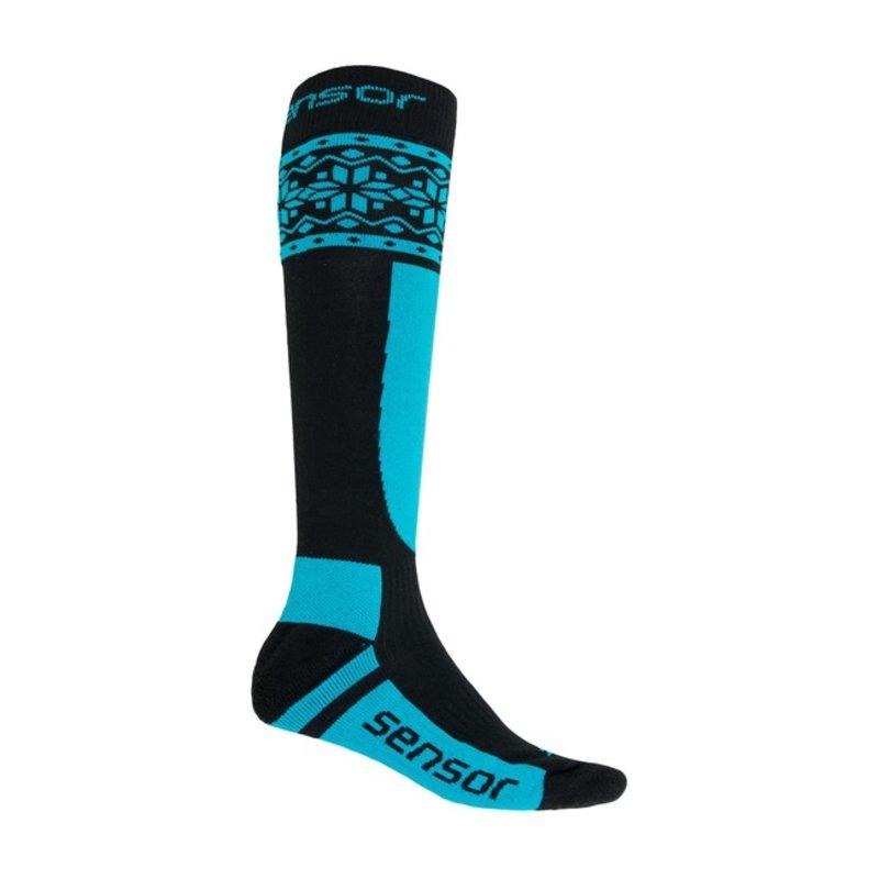 Sensor Thermosnow sokken Norway zwart-blauw