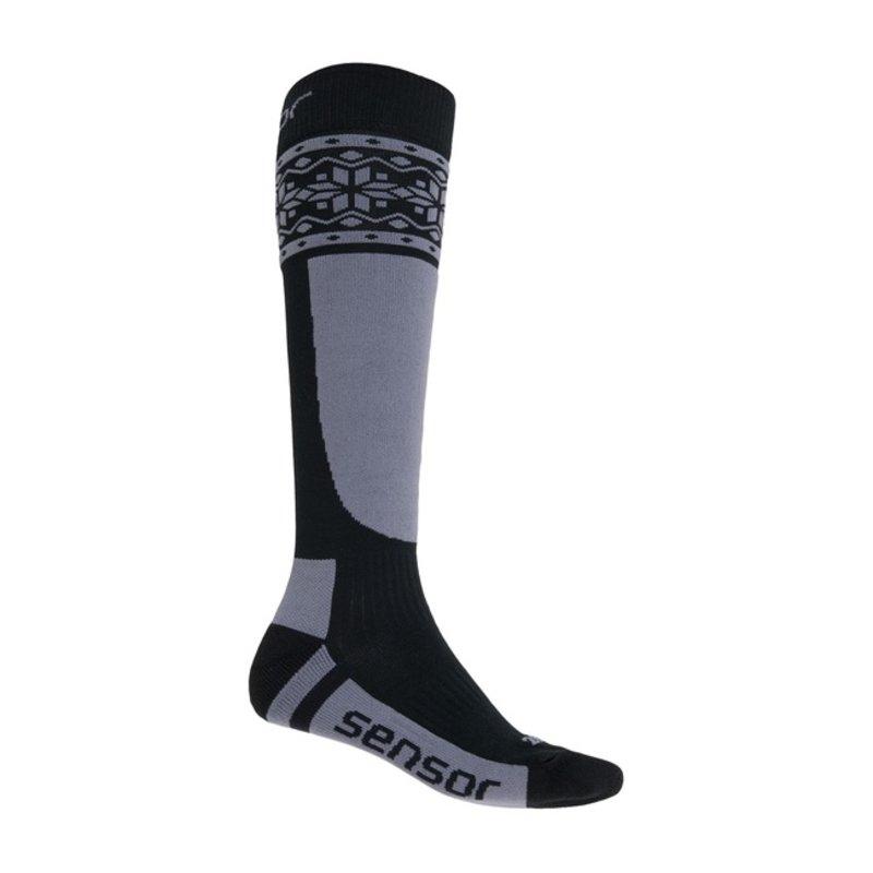 Sensor Thermosnow sokken Norway zwart-grijs
